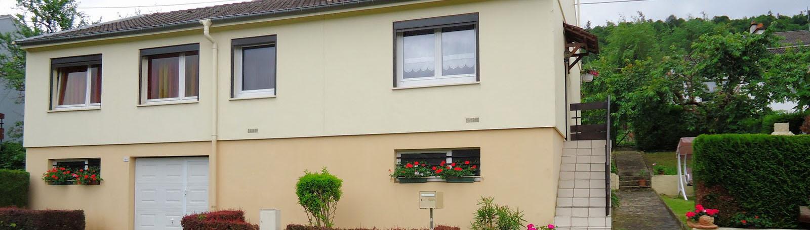 Maison sur grand sous-sol complet à Frouard
